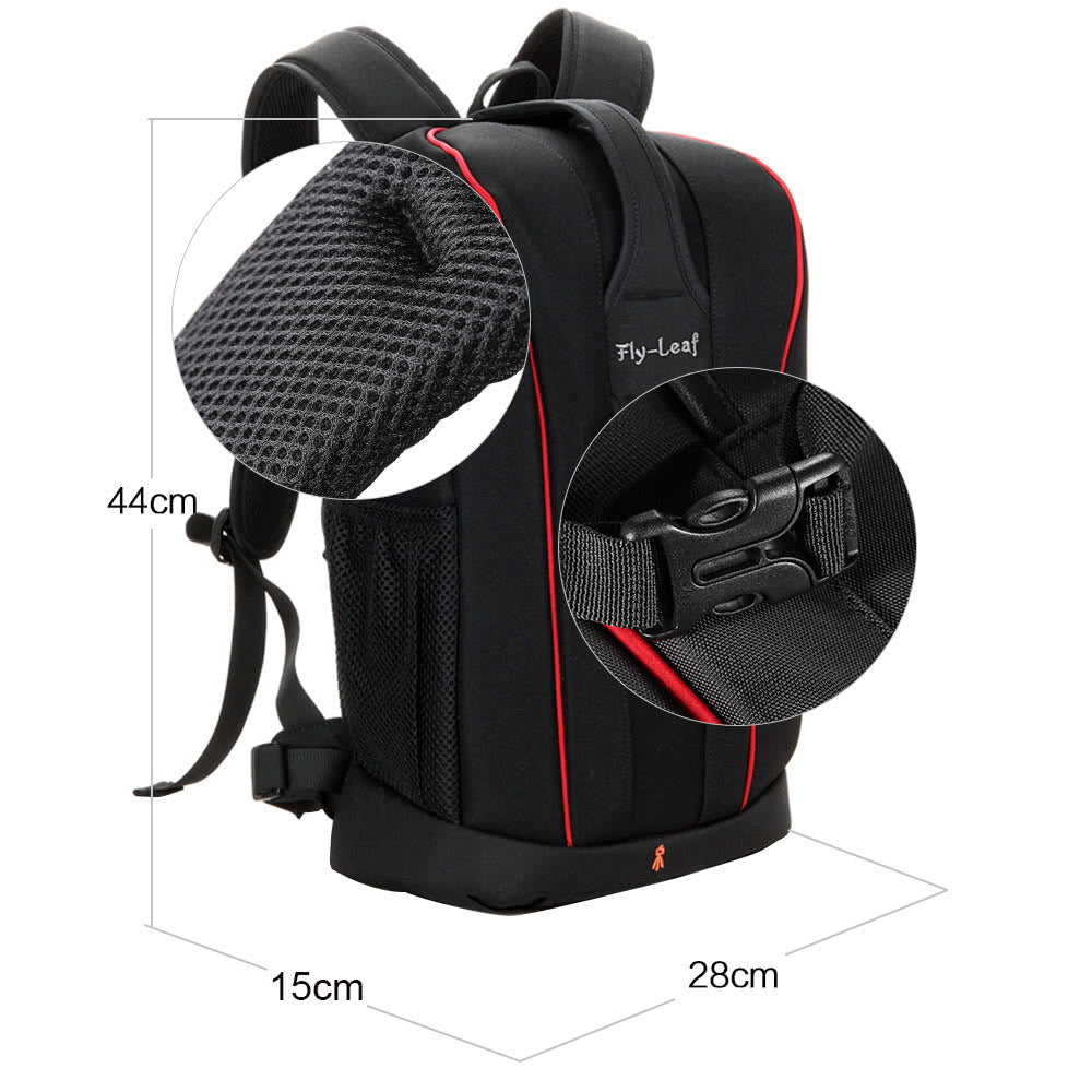 Go2Funlive Camera Lens Black Photography Padded Shockproof Water-Resistant Backpack Bag Case For Nikon Canon Sony Dslr Camera Accessories