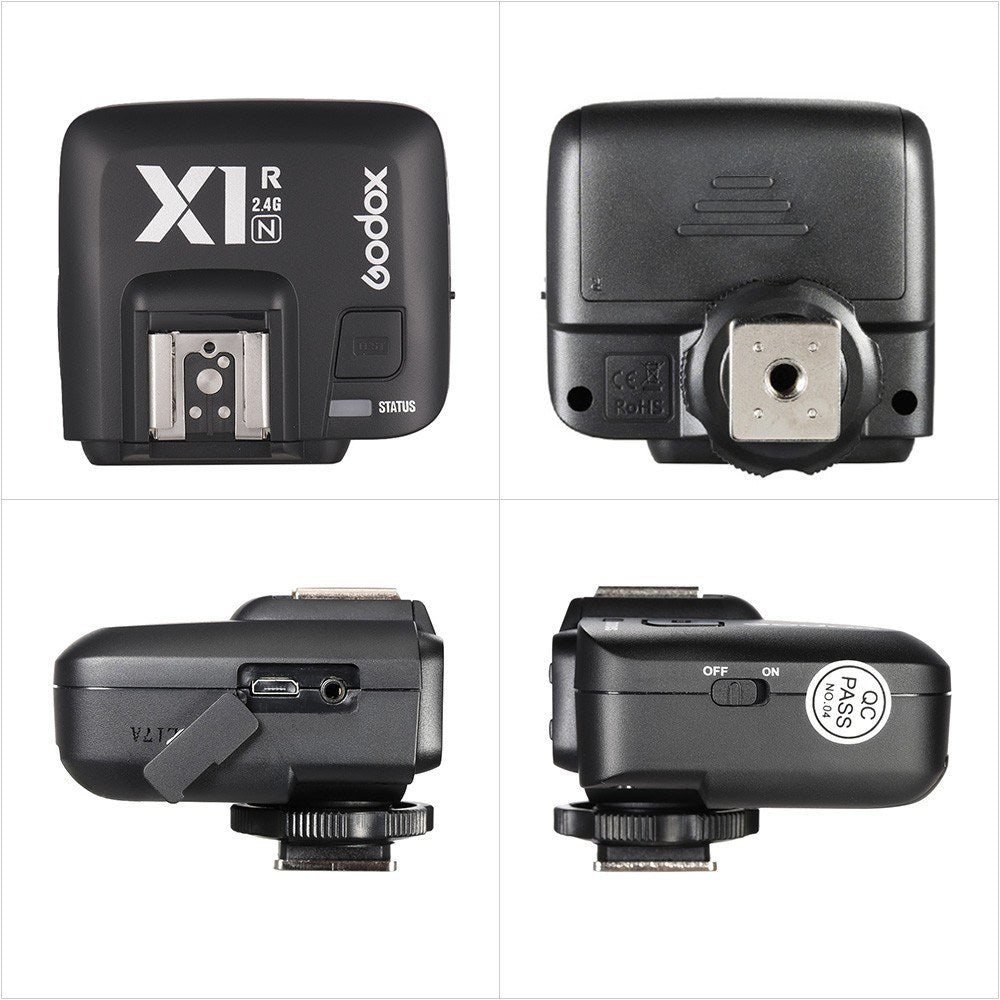 Go2Funlive Godox X1R-N Ttl 2.4G Wireless Flash Trigger Receiver For Nikon Dslr Camera For X1N Trigger