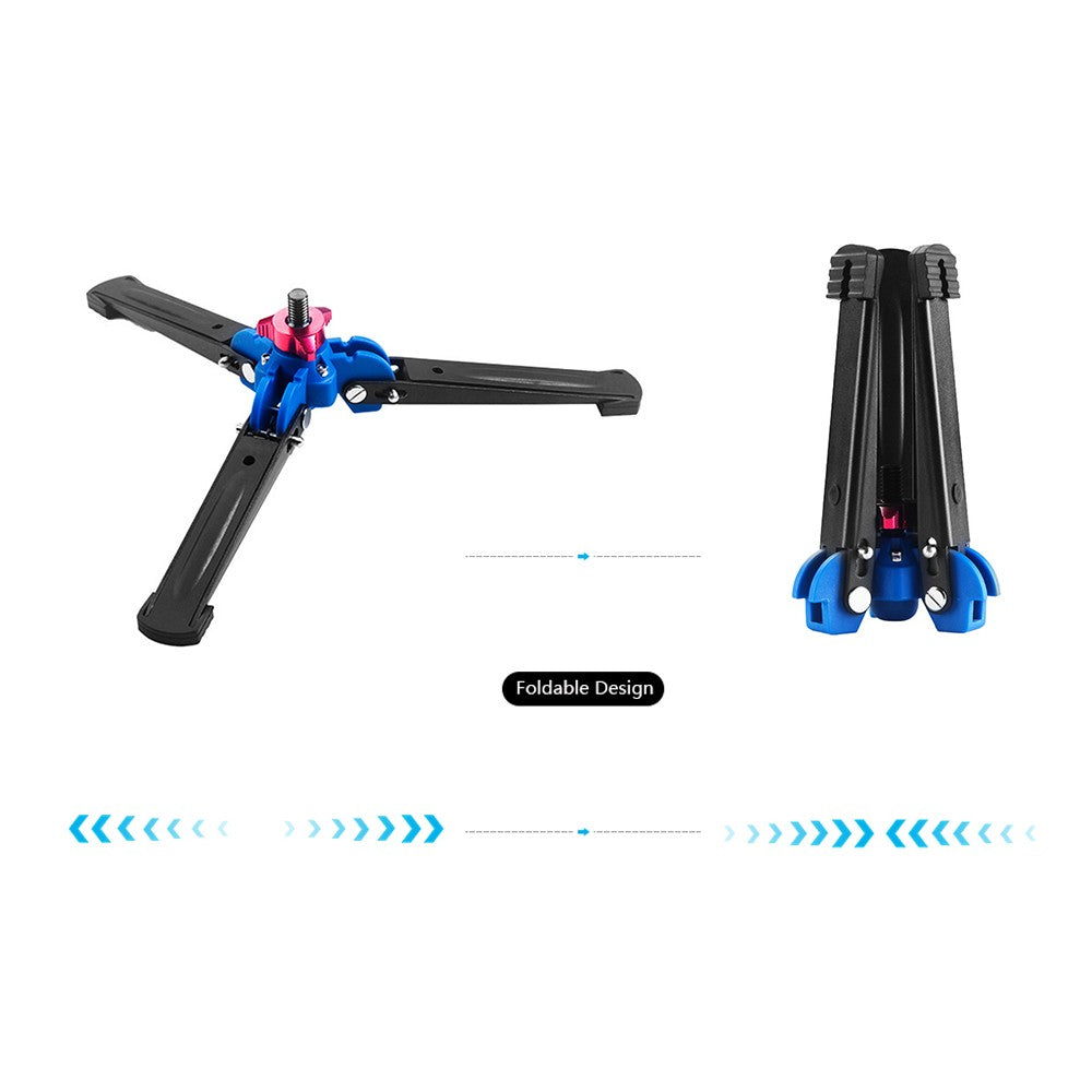 Go2Funlive Three Leg Dslr Camera Photography Mini Tripod Monopod Unipod Base Stand Holder Support With 3/8 Inch Screw For Tripod Fluid Ball Head