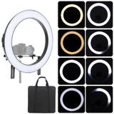 Go2Funlive Falconeyes Dvr-160Tvc Video Camera Photography Studio Led Ring Light Fill-In Lamp 160Pcs Smd Beads 3200K-5600K Adjustable Color Temperature