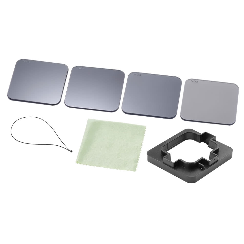 Go2Funlive Square Nd Lens Filter Protector Kit Set (Nd2/Nd4/Nd8/Nd16) For Gopro Hero 5 Naked Camera W/ Mounting Frame Holder