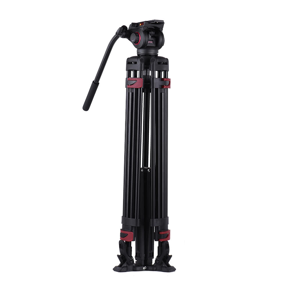 Go2Funlive Miliboo Mtt609A Professional Photography 3 Sections Tripod Stand Aluminum Alloy With 360¡ã Panorama Fluid Hydraulic Bowl Head Max. Height 170Cm/ 5.6Ft Load Capacity 15Kg For Canon Nikon Sony Dslr Cameras Camcorders