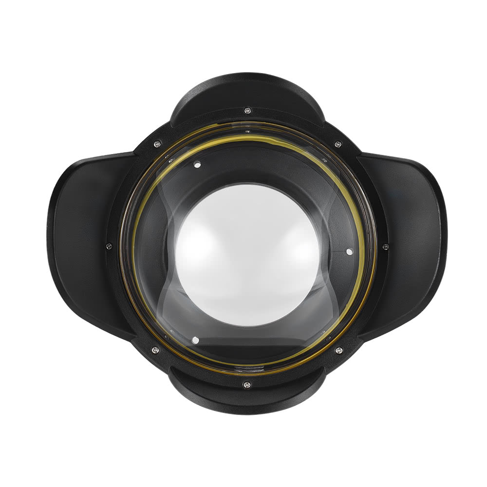 Go2Funlive Meikon Underwater Camera 200Mm Fisheye Wide Angle Lens Dome Port Case Shade Cover 60M/ 197Ft Waterproof 67Mm Round Adapter For Camera Diving Housing