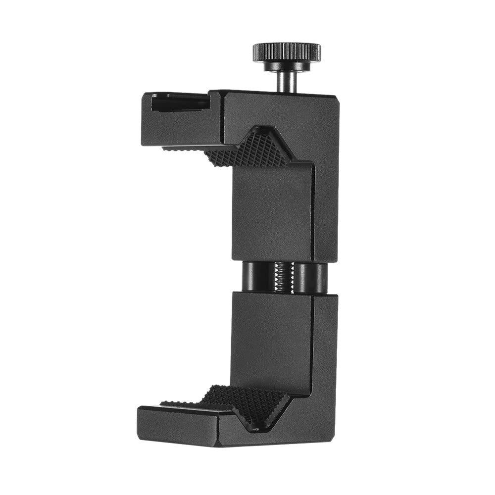 Go2Funlive Ulanzi Adjustable Smartphone Clip Holder Clamp Bracket Aluminum Alloy With Cold Shoe Mount 1/4 Inch Screw Hole For Iphone 7 7 Plus 6 6S 6 Plus