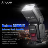 Go2Funlive Andoer Ad560 Iv 2.4G Wireless Universal On-Camera Slave Speedlite Flash Light Gn50 With Flash Trigger For Canon Nikon For Sony A7/ A7 Ii/ A7S/ A7R/ A7S Ii Dslr Cameras