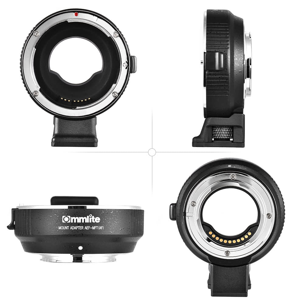 Go2Funlive Commlite Cm-Aef-Mft Lens Adapter Support Af Auto Focus Is Stabilization Exif Transmission Electronic Aperture Control For Ef/Ef-S Lens To M4/3 Camera For Panasonic Gh3 Gh4 Gx7 Gf5 Gf6 Gx1 Gm For Olympus Pl5 Pl6 Om-D E-M5 E-M1