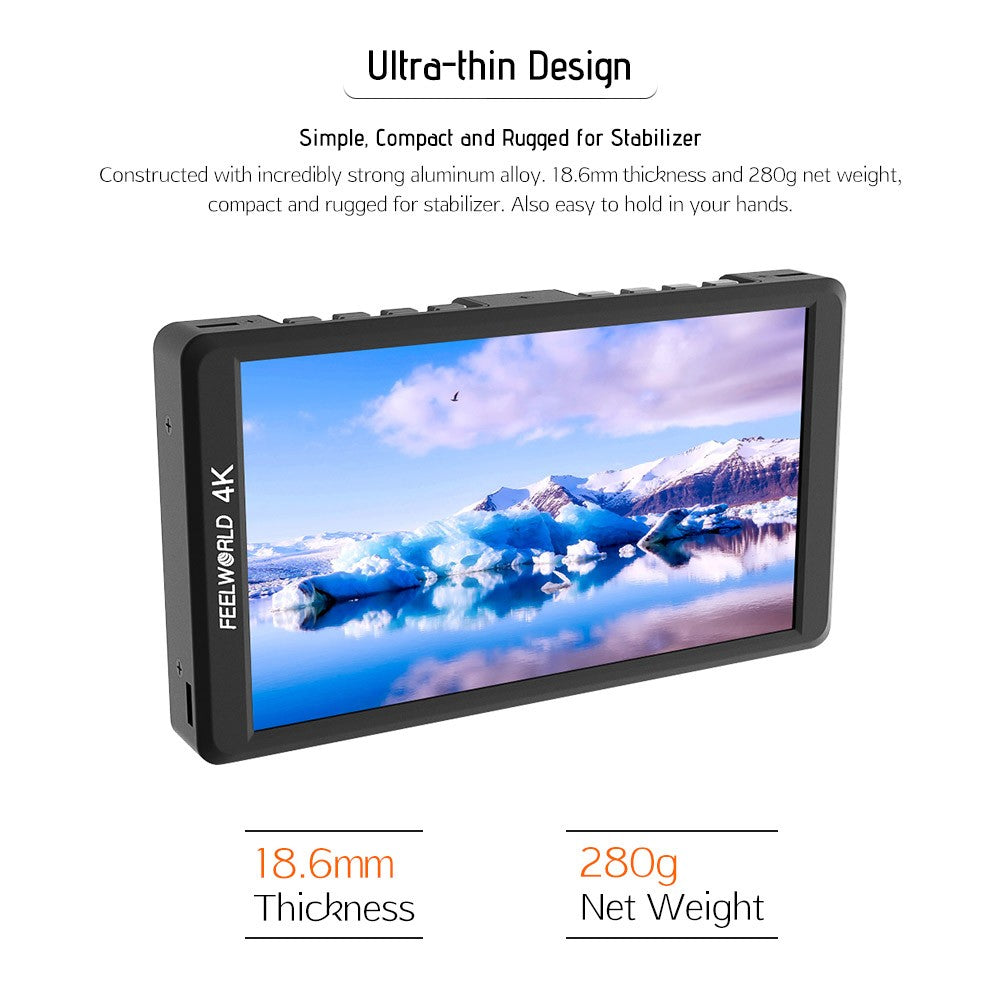 Feelworld F570 4K 5.7 inch Ultra-thin Portable On-camera Field Monitor
