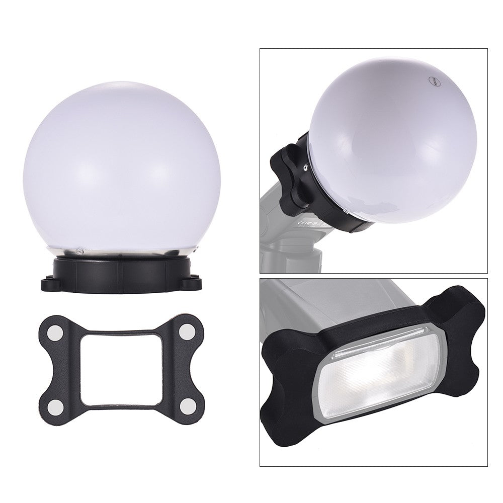 Go2Funlive On-Camera Flash Diffuser Ball Magnet Adsorption Soft Balls For Nikon Canon Yongnuo Godox Sigma Andoer Neewer Vivitar Speedlight