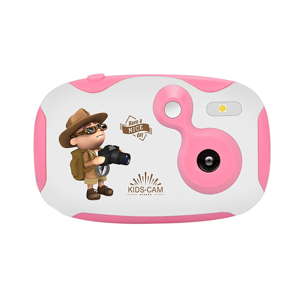 Go2Funlive Amkov Mini Kids Digital Video Camera Built-In Rechargeable Battery With Cartoon Stickers Christmas New Year Birthday Festival Gift For Children Boys Girls