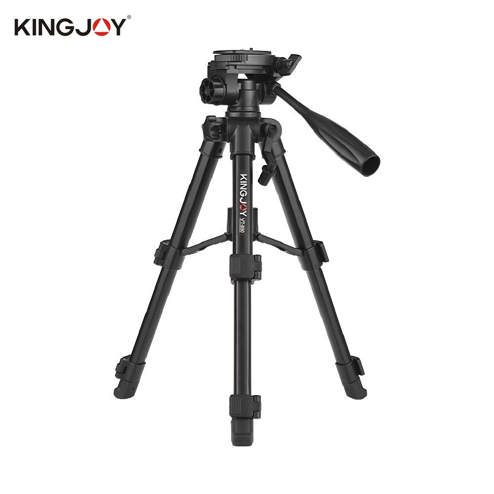 Go2Funlive Kingjoy Vt-850 28 Inch 3 Section Aluminum Alloy Professional Camera Tripod For Photography Video Shooting Support Dslr Slr Camcorder With Carry Bag