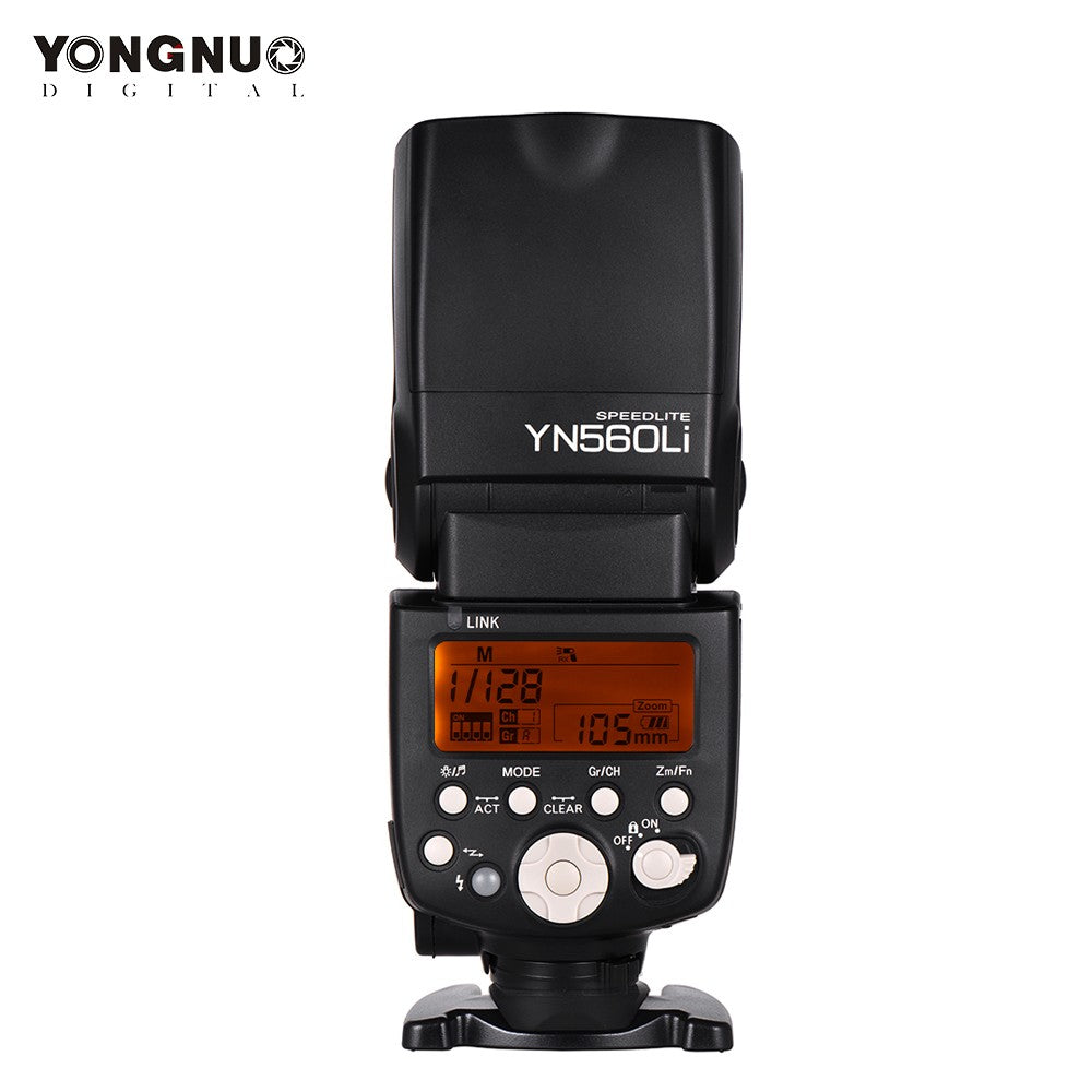 Go2Funlive Yongnuo Yn560Li Wireless Master Slave Flash Speedlite Gn58 Ultrafast Charging Recycle System Supports Usb Firmware Upgrade