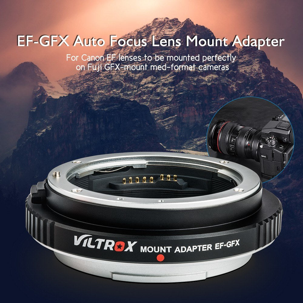 Go2Funlive Viltrox Ef-Gfx Auto Focus Lens Mount Adapter Usb Upgrade For Canon Ef Ef-S Lens To Gfx-Mount Med-Format Cameras For Fuji Gfx 50S/ 50R