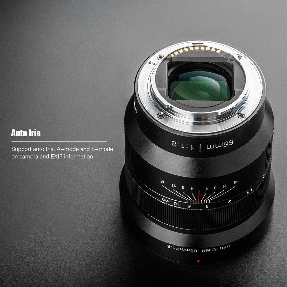 Go2Funlive Viltrox Pfu Rbmh 85Mm F1.8 Large Aperture Full Frame Manual Focus Prime Lens Fixed Focus Lens For Sony E-Mount Camera Nex-5N A9 A7M3 A7R2 A7M3 A7M2 A7Ss A6500 A6300 A6000 A5000