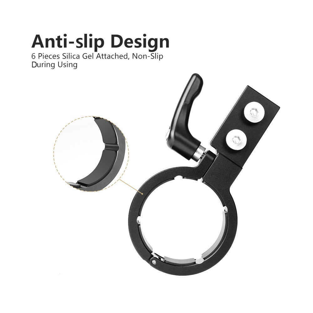 AgimbalGear Handle Grip Neck Ring Mounting with 1/4 Inch and 3/8 Inch Screw Holes Cold Shoe Mount Support Low Angle Shooting Compatible for DJI Ronin-S Handheld Gimbal Stabilizer Accessories
