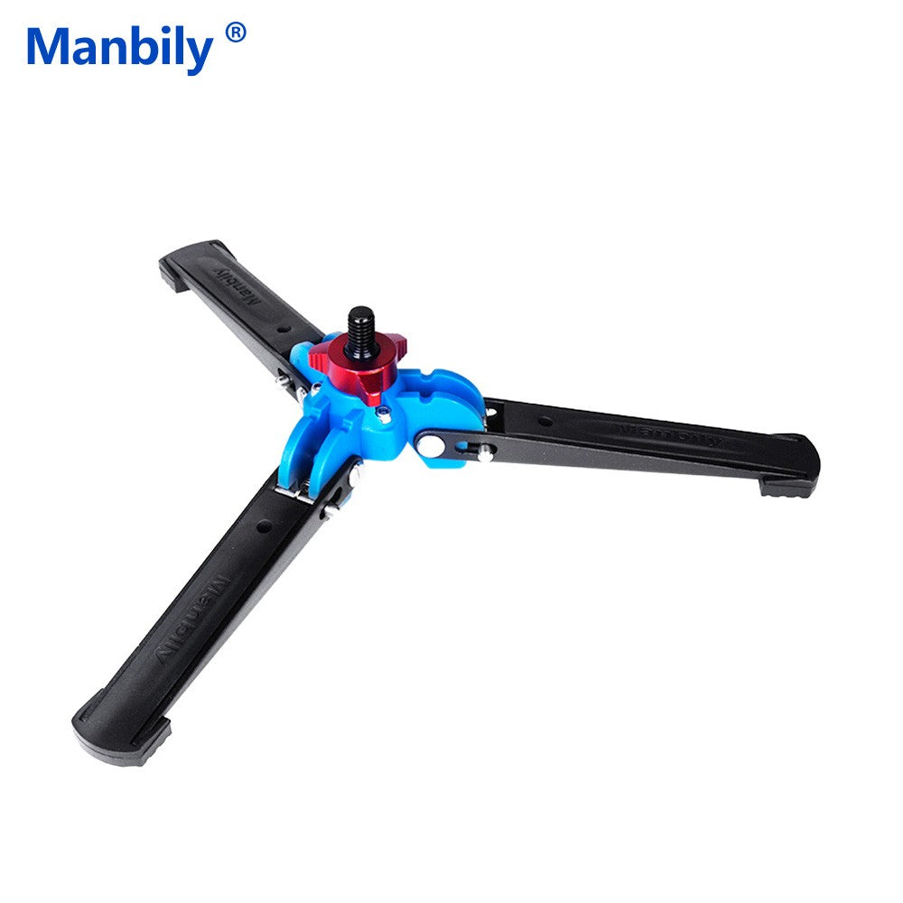 Go2Funlive Manbily M-1 Portable Universal Mini Three Feet Support Tripod Stand Base Monopod Stand For Monopod Ball Head With 3/8 Inch Screw