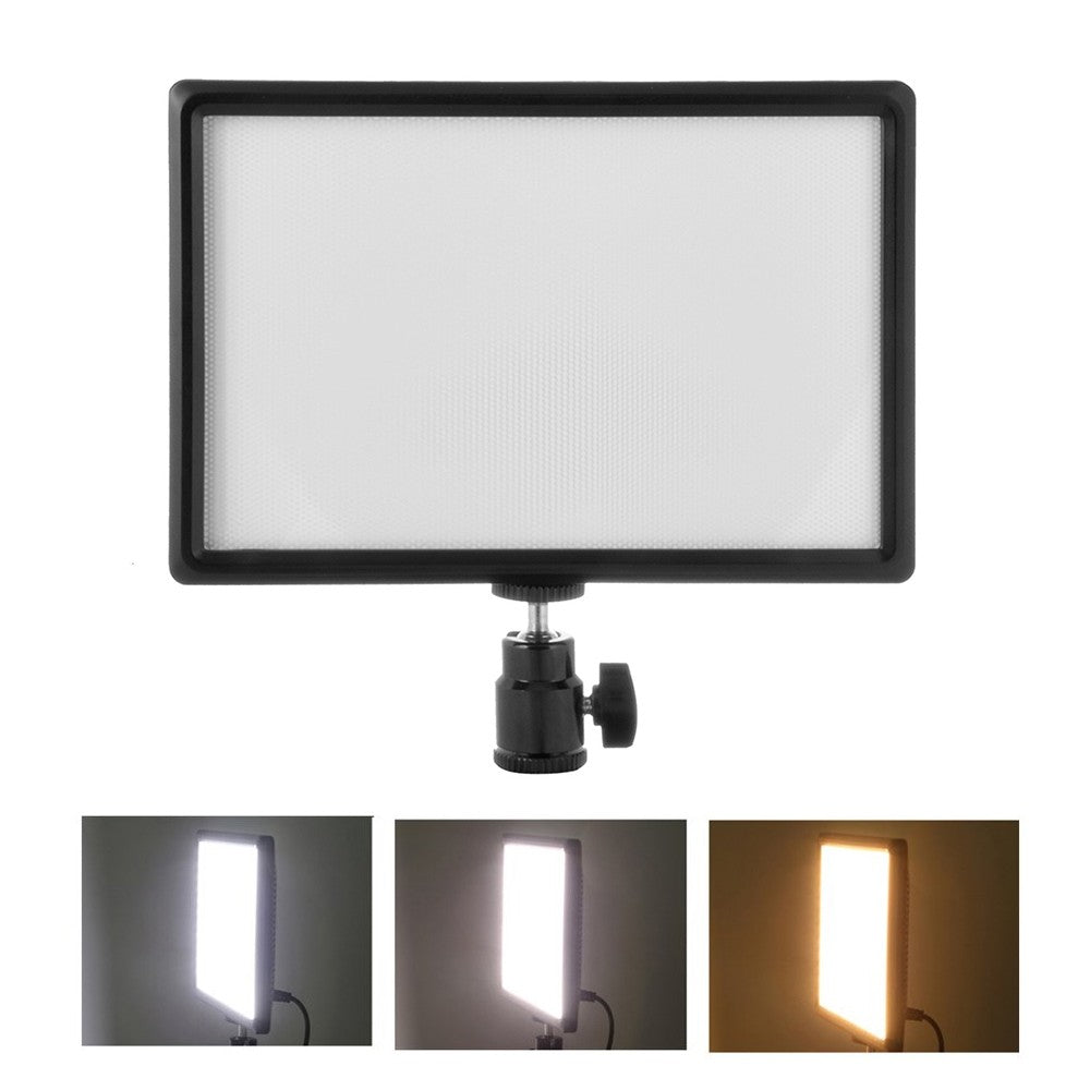 Go2Funlive Ultra-Thin Led Video Light Dimmable 3200K-6200K Bi-Color Photography Fill Light