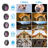 Go2Funlive Apexel Apl-Js16Xjj04D5 6 In 1 Phone Lens Kit 16X Zoom Universal Telephoto Lens 198¡ã Fisheye Lens 0.63X Wide Angle Lens 15X Macro Lens Cpl&Star Filter With Tripod Phone Holder Lens Clip For Iphone Samsung Huawei Smartphones