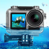 PULUZ Transparent Diving Waterproof Case Protective Cover Shell Underwater Housing Case Dustproof Shockproof 360¡ã Full Protection for DJi Osmo Acition Camera