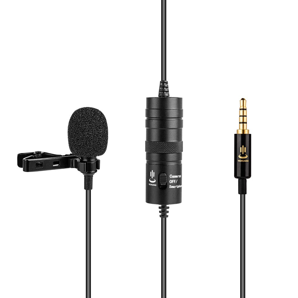 Go2Funlive Professional Lavalier Clip-On Microphone Mic 3.5Mm 6 Meters Cable With 6.35Mm Adapter Windshield For Iphone 6/6P Samsung Huawei Smartphone Tablet Laptop For Canon Sony Nikon Cameras Camcorders Dv Dslr For Studio Interview Recording