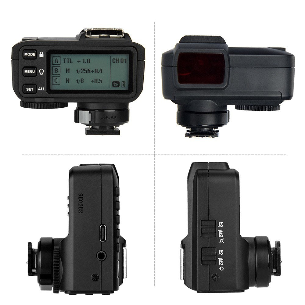 Go2Funlive Godox X2T-S Ttl Wireless Flash Trigger 1/8000S Hss 2.4G Wireless Trigger Transmitter For Sony Camera For Godox V1 Tt350S Ad200 Ad200Pro For Iphone X/8/8 Plus For Huawei P20 Pro/Mate 10 For Samsung S8 Note8