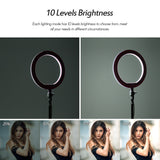 Go2Funlive 26Cm/10 Inch Led Ring Light With Light Stand Universal Phone Holder Kit Usb Powered With Wired Remote Control 10 Levels Brightness Day Light Cool White Warm White For Youtube Video Live Makeup Vlogging Portrait Photography