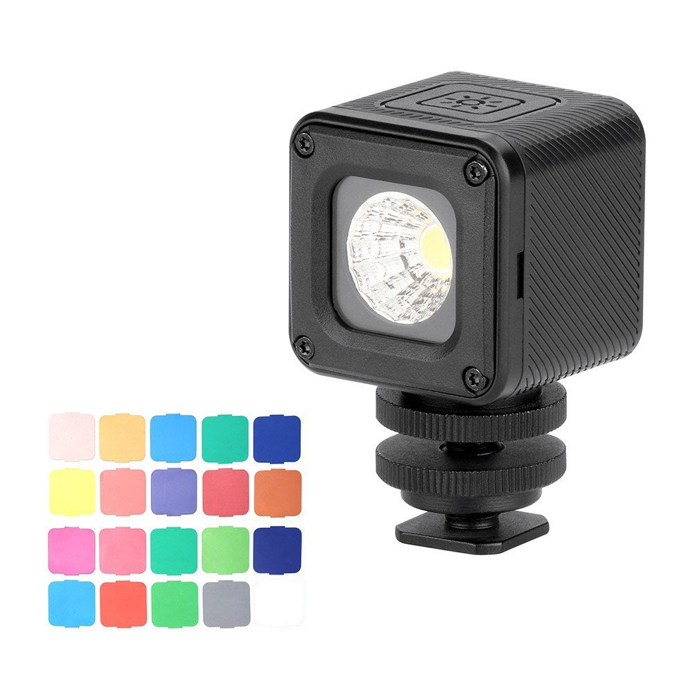 Go2Funlive Ulanzi L1 Pro Versatile Waterproof Dimmable Mini Led Video Light 5500K Photographic Fill Light Cri 95 With 20 Color Filters For Gopro 7/6/5 For Dji Drones Osmo Pocket Support Diving Underwater Photography