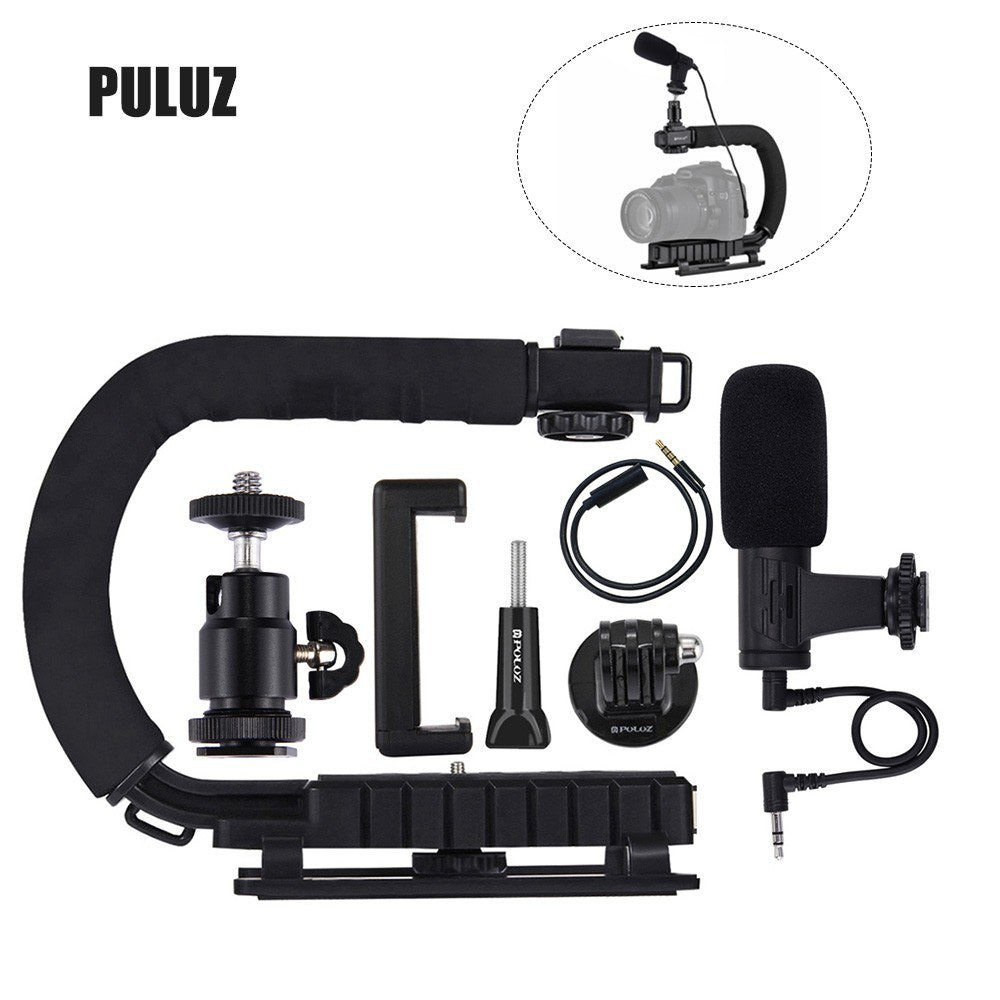 Go2Funlive Puluz U-Shaped Camera Bracket Portable Handheld Video Handle Dv Bracket Stabilizer Kit For All Slr Cameras And Home Dv Camera