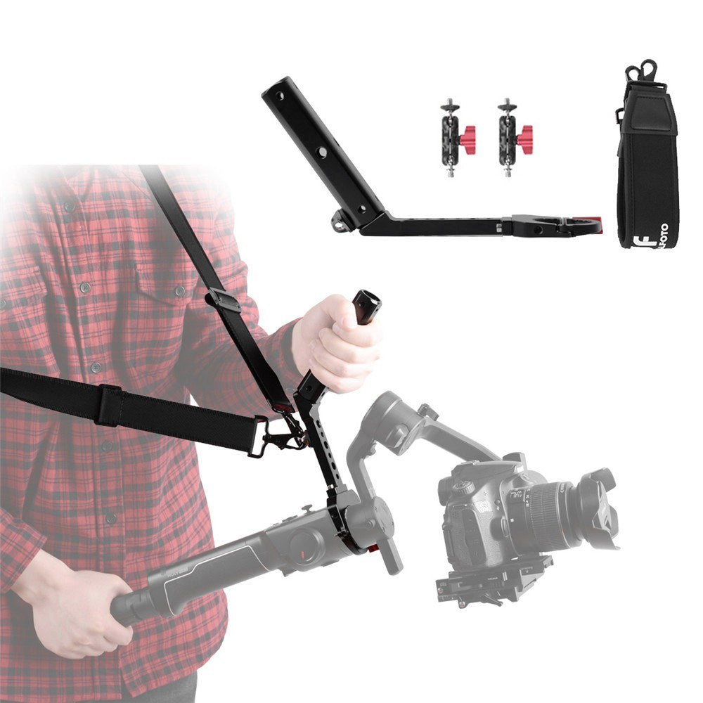 Go2Funlive Df Digitalfoto Terminator-Air2 Versatile Handle With Hand Release Strap For Moza Air 2 For Zhiyun Crane 2 Gimbal