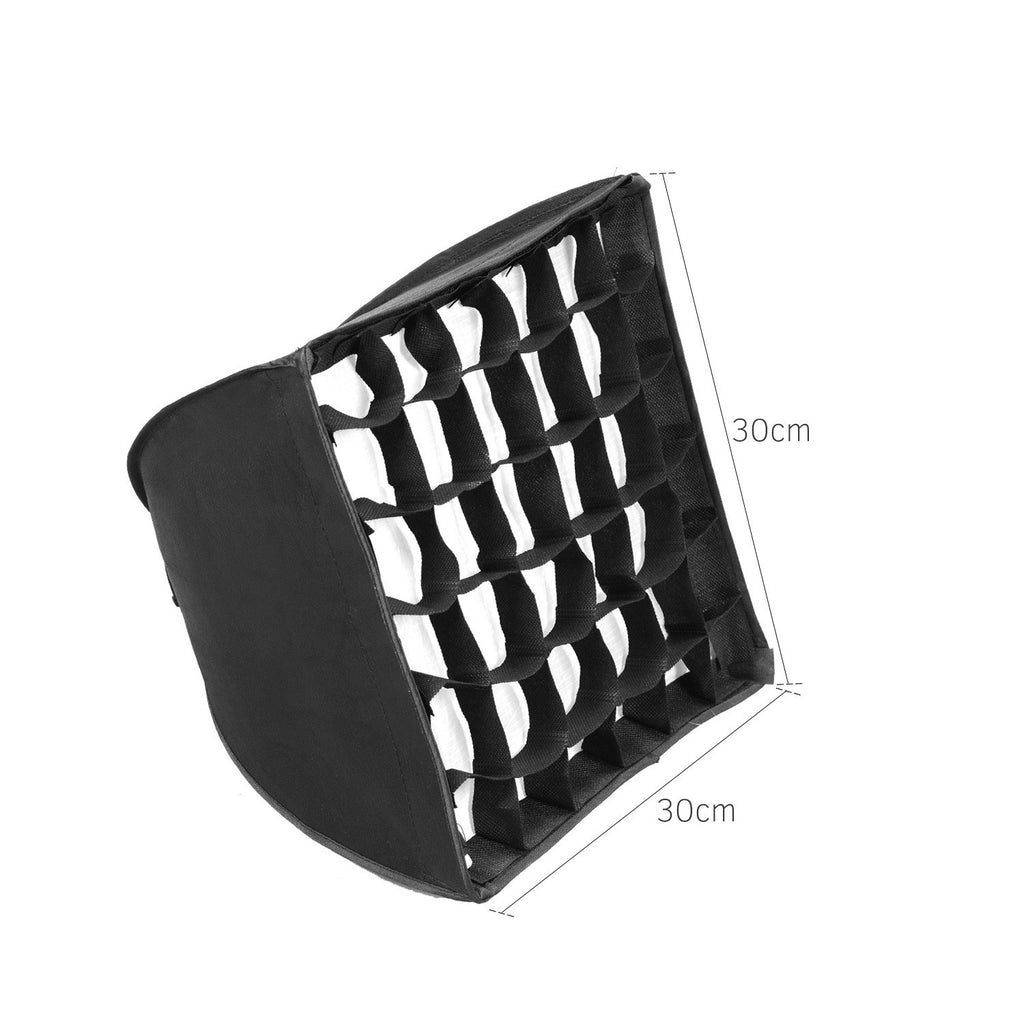 Go2Funlive 30*30Cm/ 11.8*11.8In Softbox With Grid Compatible With Godox S30 Focusing Led Video Light