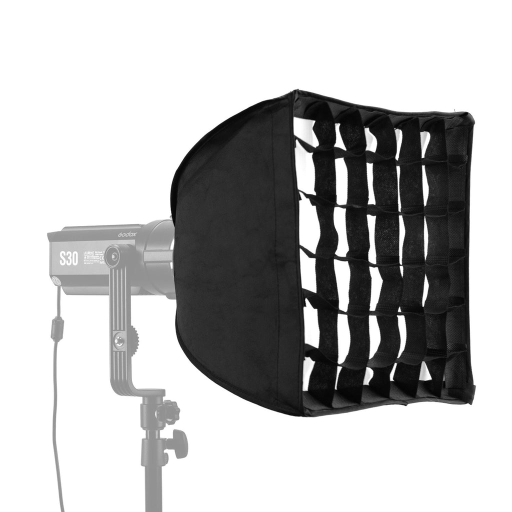 30*30cm/ 11.8*11.8in Softbox with Grid Compatible with Godox S30 Focusing LED Video Light