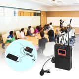 Go2Funlive Wireless Lavalier Microphone System Uhf 60-Channels One Transmitter One Receiver For Dslr Camera Camcorder Smartphone Pc Tablet Sound Audio Interview Recording