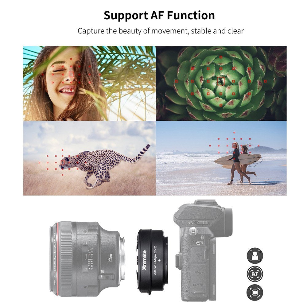 Go2Funlive Commlite Cm-Ef-Nz Lens Mount Adapter Ring Af Auto Focus Is Anti-Shake Aluminum Alloy With Tripod Mount Compatible With Canon Ef/Ef-S Lens To  Nikon Z6/Z7/Z50 Z-Mount Mirrorless Camera