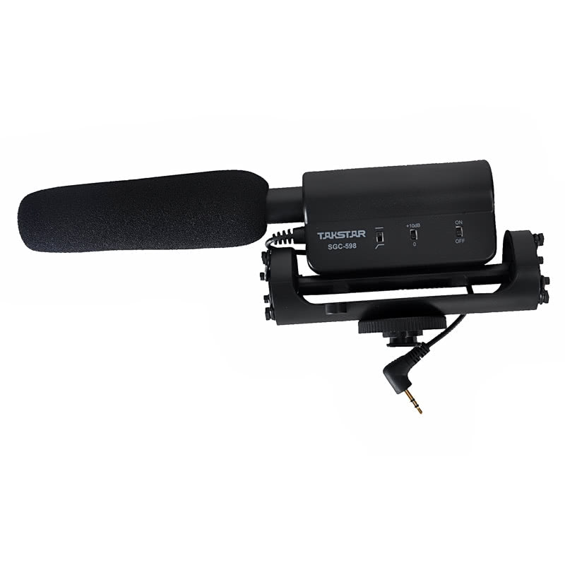 Go2Funlive Condenser Photography Interview Recording Microphone For Canon Nikon Camera Dslr Dv Sgc-598