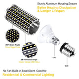 Go2Funlive Led Corn Light Bulb Cool Daylight White Corn Bulb E26 Medium Base For Indoor Outdoor Garage Warehouse Factory Workshop Barn Backyard 1Pc