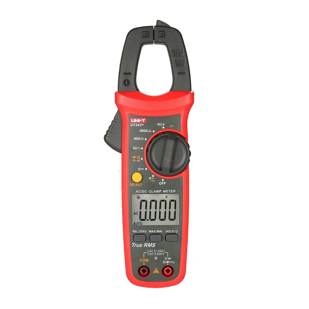 Go2Funlive Uni-T Ut203+ 4000 Counts Digital Clamp Meter True Rms Multimeter Clamp Ammeter Voltage Meter Ncv Test Universal Meter Tester Ac/Dc Current Clamp Tester