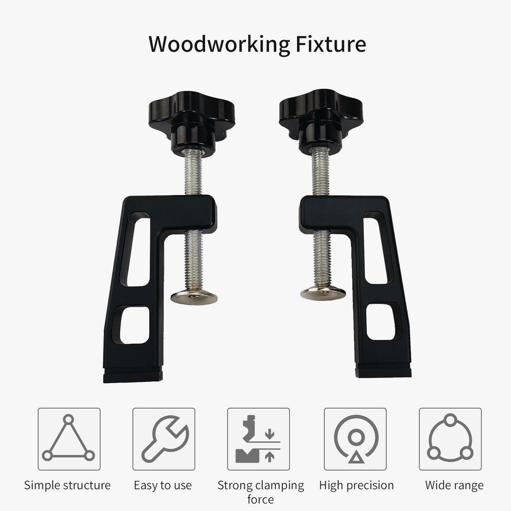 Go2Funlive 2Pcs Professional 45-Type Woodworking Clamp G Clip Standard T-Track 45Mm Woodworking Tools