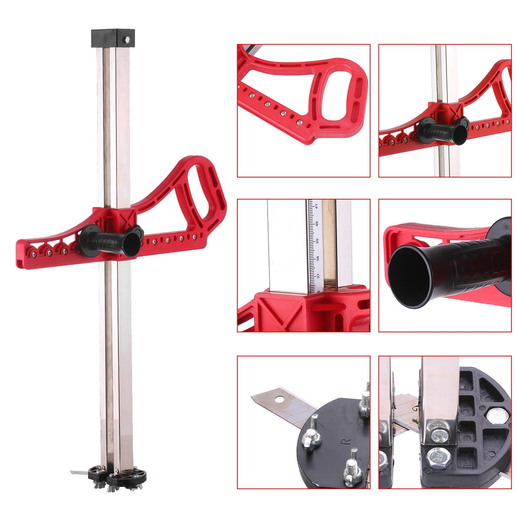 Upgrade Version Manual High Accuracy Gypsum Board Cutter Hand Push Drywall Cutting Artifact Tool with 14 Bearings 20-600mm Cutting Range