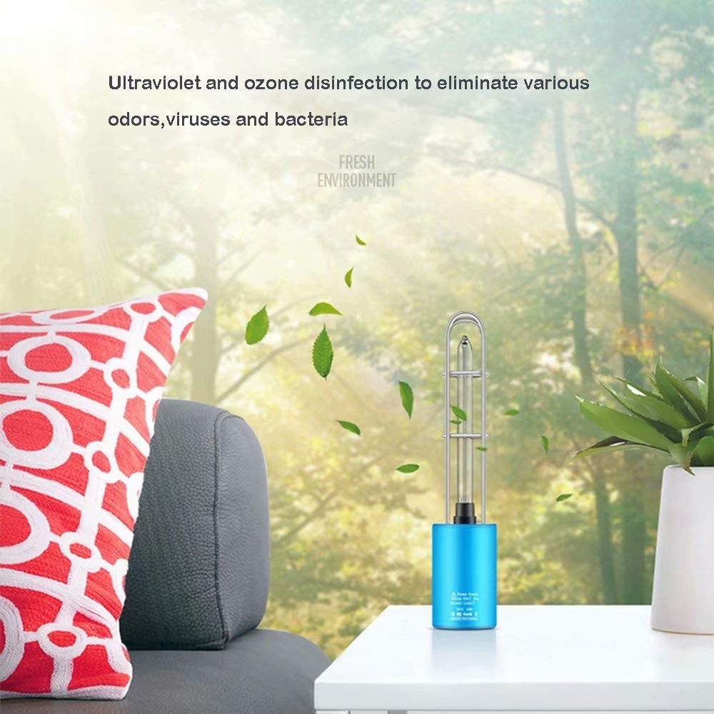 Go2Funlive Rechargeable Uv Sterilizer Light Germicidal Lamp Ultraviolet Light Tube Bulb Disinfection Bactericidal Lamp Ozone Sterilizer Mites Lights(Blue And Blcak Color Send Randomly)
