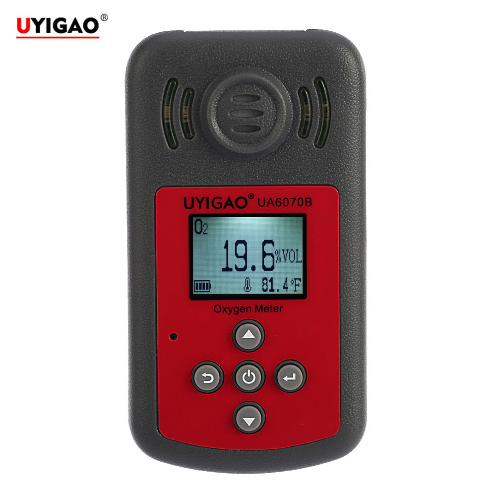 Go2Funlive Uyigao Brand New Handheld Portable Automotive Mini Oxygen Meter High Precision O2 Gas Tester Monitor Detector With Lcd Display Sound And Light Alarm