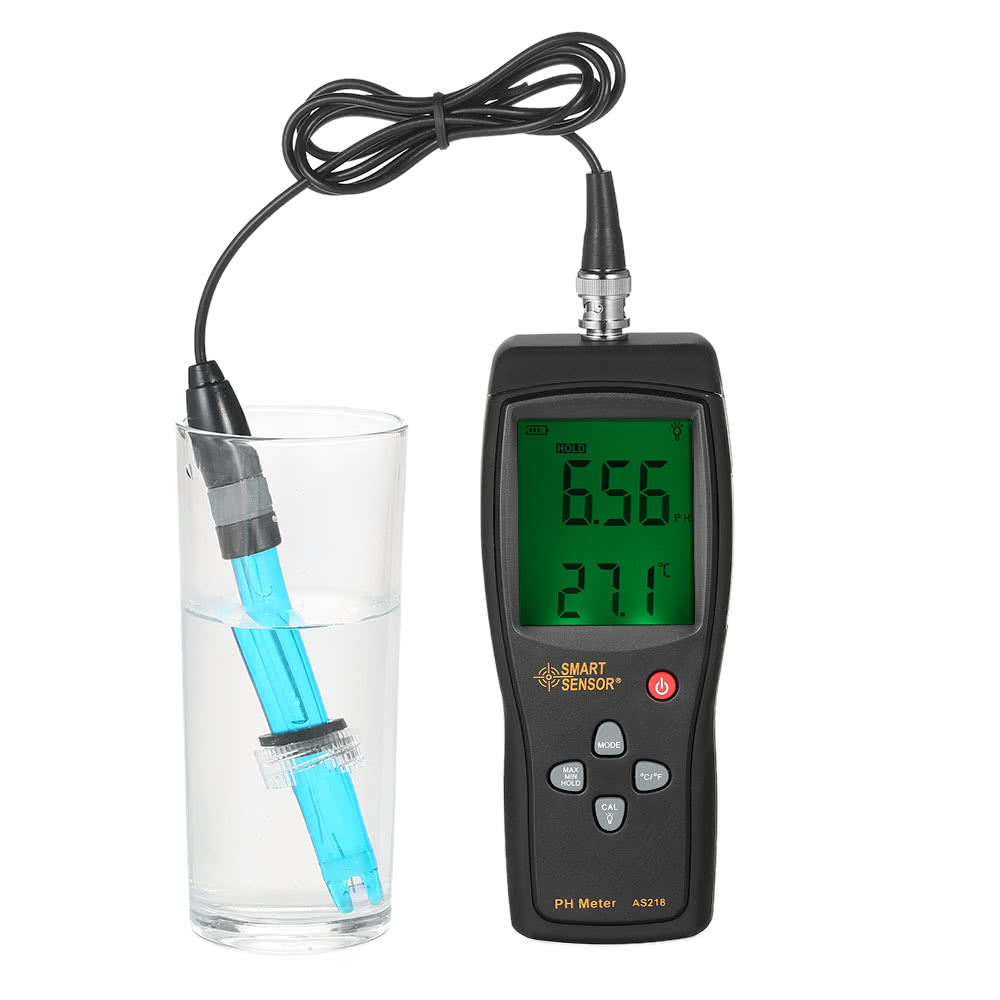 Go2Funlive Smart Sensor Professional High Precision Portable Ph Meter For Aquarium Acidimeter Water Quality Monitor Water Quality Analyzer Ph Tester Measure Household Drinking Solution With Temperature Compensation Function And Backlight
