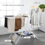 Go2FunLive HOME ORGANIZER Foldable Drying Rack Collapsible Space-Saving Laundry Rack Carbon Steel Heavy Duty Hanging Stand 2 Tier Clothes Rack for Indoor and Outdoor Use