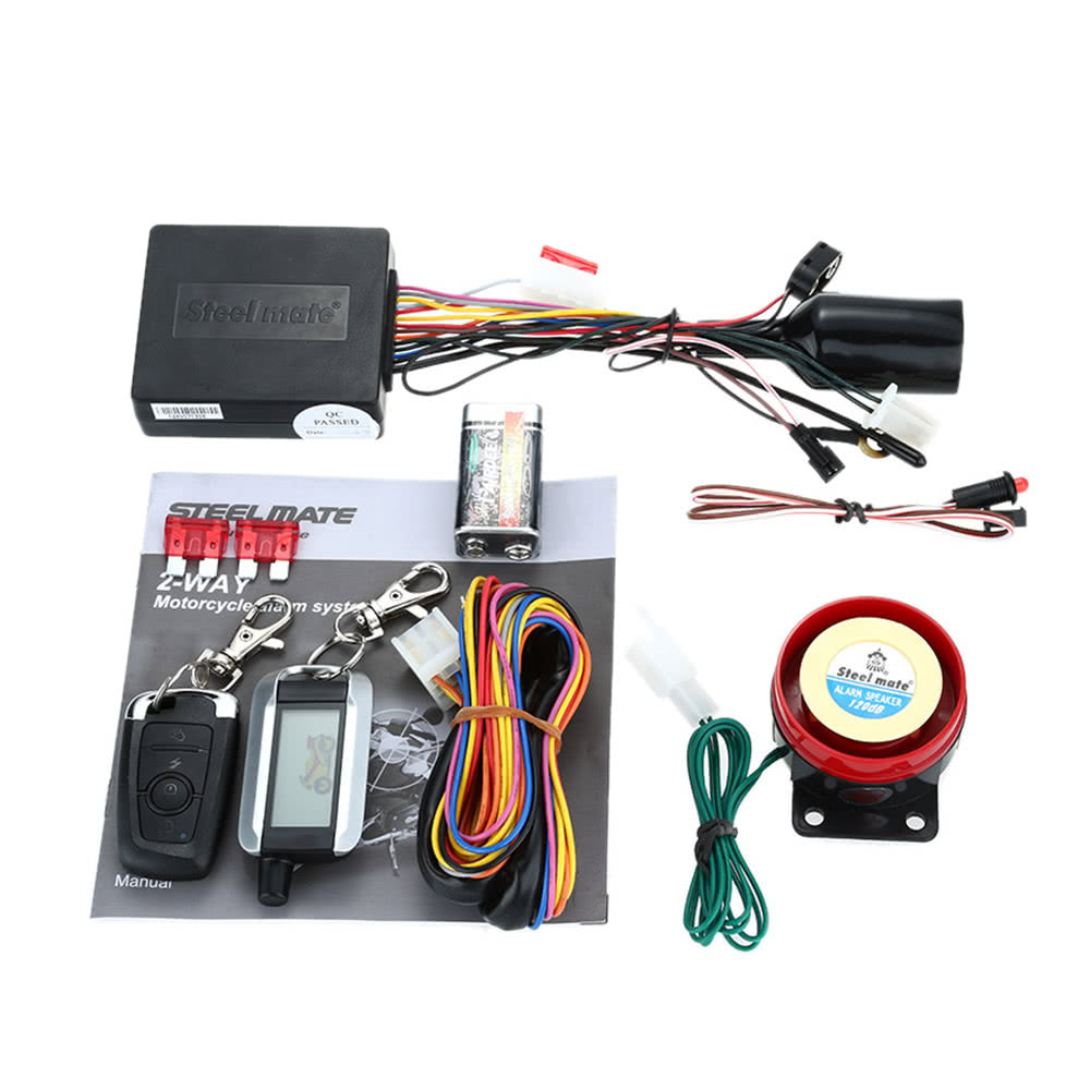 Go2Funlive Steelmate 986Xo 2 Way Motorcycle Alarm System Remote Engine Start Water Resistant Ecu With Lcd Transmitter Motorcycle Security System