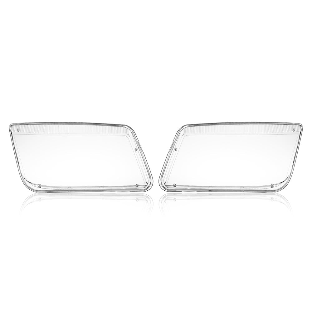 Go2Funlive One Pair Plastic Headlight Headlamp Cover Replacement Transparent For Vw Mk4 Jetta Bora 1998-2004