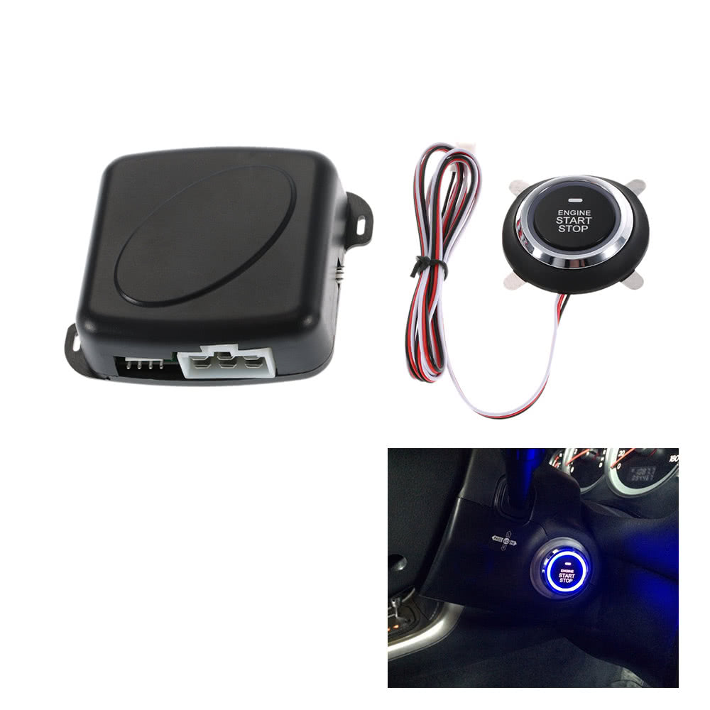Go2Funlive Car Engine Push Start Button Rfid Safe Lock Ignition Switch Keyless Entry Starter Anti-Theft System