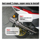 Go2Funlive 51Mm Frosted Surface Refit Exhaust Muffler Pipe For Motorcycles Atv Universal