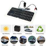 Go2Funlive 18V 5.5W 31.5 X 16.5 X 0.15Cm Semi Flexible Solar Panel With Cables