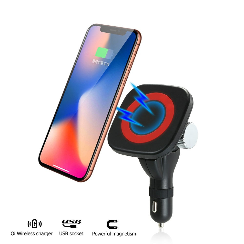 Go2Funlive Fast Wireless Car Charger Stand 5W Car Mount Phone Holder For Iphone X/8/8 Plus/Samsung Galaxy S8/S8+/S7/S6 Edge+/Note 5/Lg And Other Qi Enabled Phones