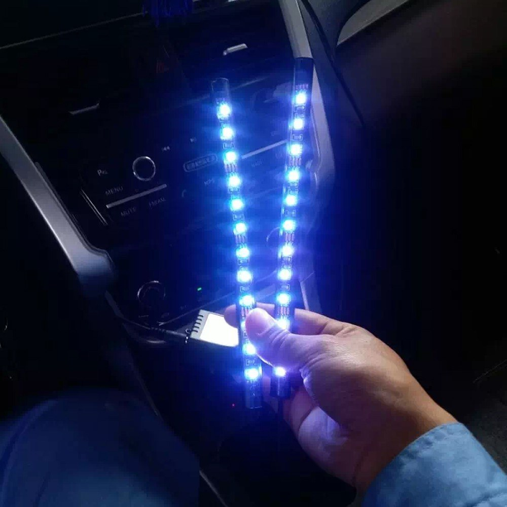 Motorcycle LED Strip Lights Kit 8PCS Motorbike LED Lights Strips Multi-Color Lights Lamp Controlled by Remote