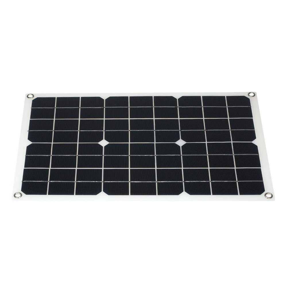 20W Flexible Solar Panel Battery Dual Output Solar Power Energy With USB Interface Monocrystalline Silicon High Conversion Rate Solar Panel System