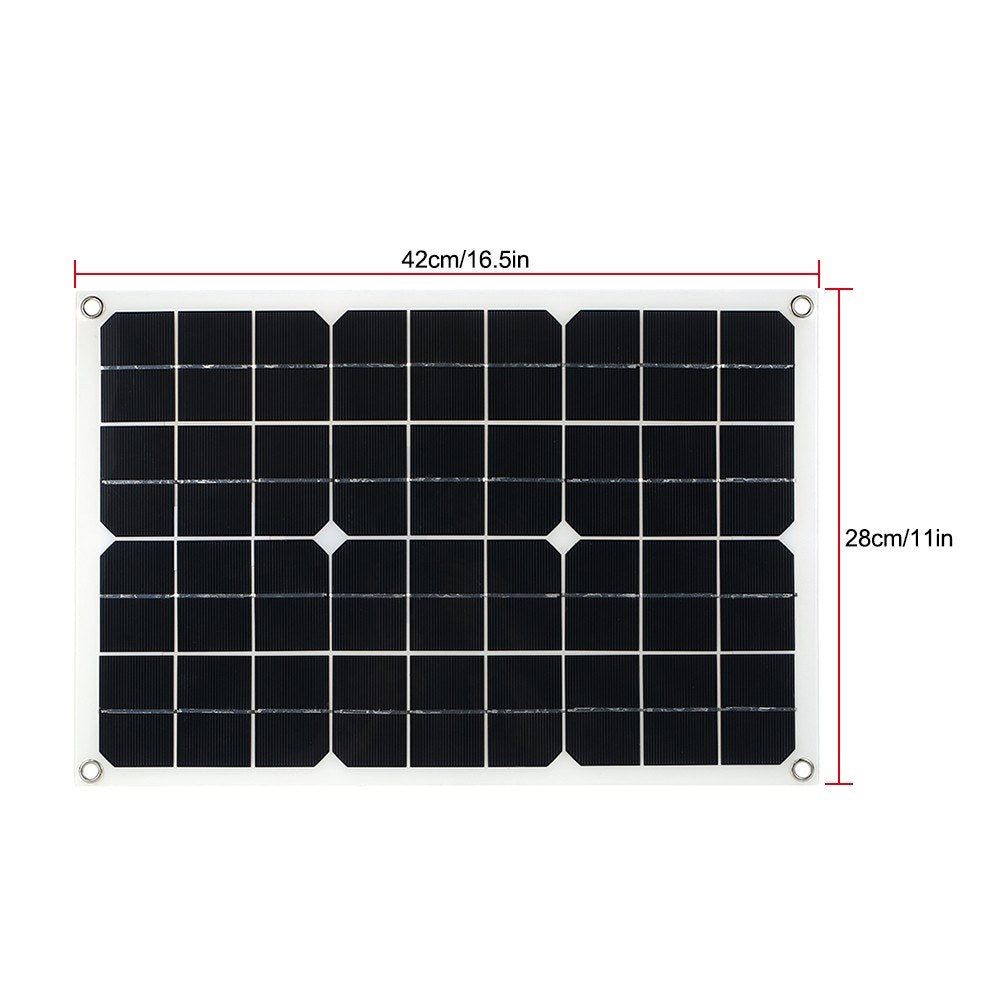 Go2Funlive 20W Flexible Solar Panel Battery Dual Output Solar Power Energy With Usb Interface Monocrystalline Silicon High Conversion Rate Solar Panel System